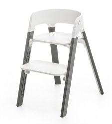 Stokke - Steps High Chair - Seat White/Legs Storm Grey