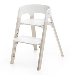 Stokke - Steps High Chair - Seat White/Legs White Wash