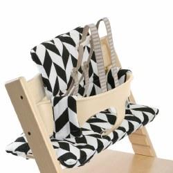Stokke - Tripp Trapp Cushion - Black Chevron