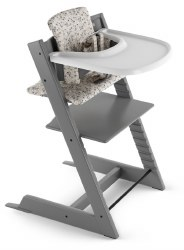 Stokke - Tripp Trapp Complete High Chair - Storm Grey/Garden Bunny