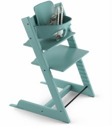 Stokke - 2019 Tripp Trapp High Chair & Baby Set Bundle - Aqua Blue