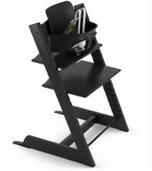 Stokke - 2019 Tripp Trapp High Chair & Baby Set Bundle - Black