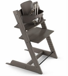Stokke - 2019 Tripp Trapp High Chair & Baby Set Bundle - Hazy Grey
