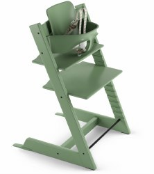 Stokke - 2019 Tripp Trapp High Chair & Baby Set Bundle - Moss Green