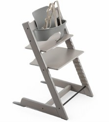 Stokke - 2019 Tripp Trapp Oak High Chair & Baby Bundle - Grey Wash