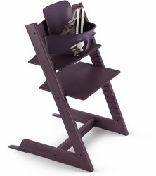 Stokke - 2019 Tripp Trapp High Chair & Baby Set Bundle - Plum Purple