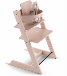 Stokke - 2019 Tripp Trapp High Chair & Baby Set Bundle - Serene Pink