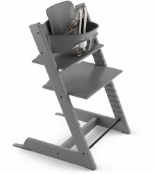 Stokke - 2019 Tripp Trapp High Chair & Baby Set Bundle - Storm Grey