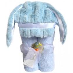Swankie Blankie - Hooded Towel Bunny Blue