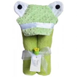 Swankie Blankie - Hooded Towel Green Frog