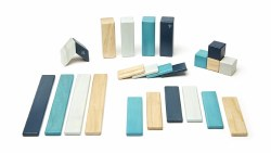 Tegu - Magnetic Wooden Blocks 24pc Blues