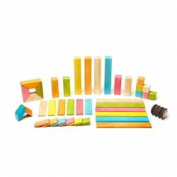 Tegu - Magnetic Wooden Blocks 42pc Tints
