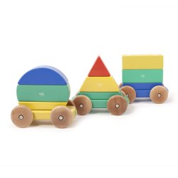 Tegu - Magnetic Shape Train - Rainbow