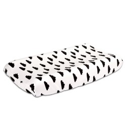 The Peanutshell - Changing Pad Cover - Clouds Black
