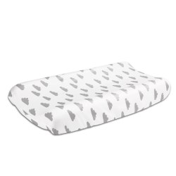 The Peanutshell - Changing Pad Cover - Clouds Grey