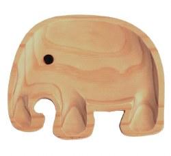 Petit Et Maman - Kids Wood Plate - Elephant