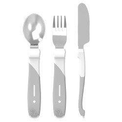 Twistshake - Learn Cutlery Stainless Steel - White
