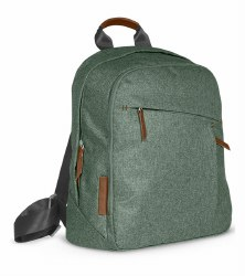 Uppababy - Changing Backpack - Emmett (Green Melange/Saddle Leather)