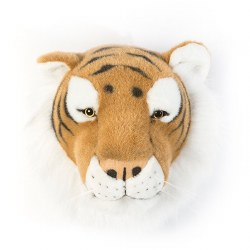 Plush Head -  Animal Head - Brown Tiger