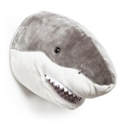 Plush Head -  Animal Head - Shark