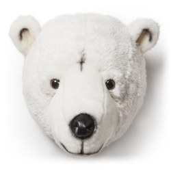 Plush Head -  Animal Head - Polar Bear