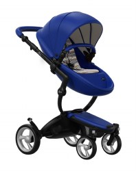 Mima - Xari Black Chassis - Royal Blue Seat - Autumn Stripes Starter Pack