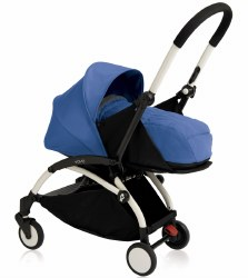 Yoyo - Yoyo+ 0+ Newborn Stroller White/ Blue