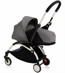 Yoyo - 2019 Yoyo+ 0+ Newborn Stroller White/ Grey