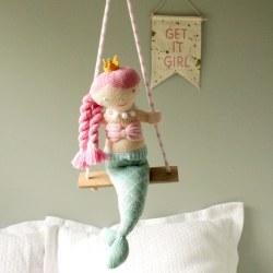 Knitted World - Crochet Mobile Mermaid