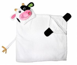Zoocchini - Hooded Towel - Cow