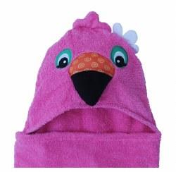 Zoocchini - Hooded Towel - Flamingo