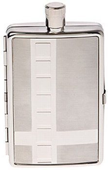 2 in 1 Cigarette Case and 2oz Flask