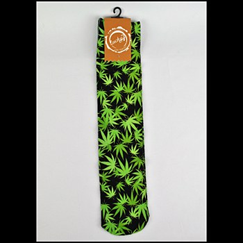 Graphical Socks Leaf Print