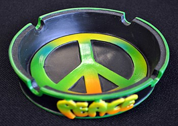 Peace Sign Ashtray