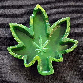 Hemp Leaf Ashtray
