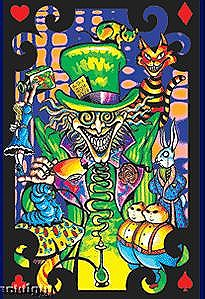 "24"" x 36"" Mad Hatter Rolled Black Light Poster"