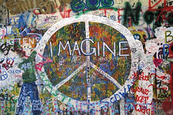 "36"" x 24"" Imagine Peace Rolled Poster"