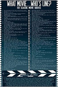 "24"" x 36"" What Movie .. Who's Line Rolled Poster"