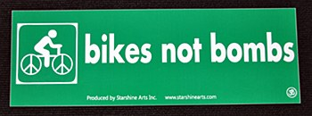 Bikes not Bombs Large Sticker