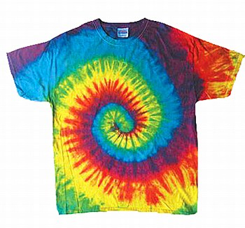 Tie Dye T-Shirt Rasta Blue Medium