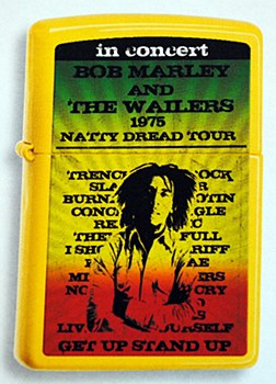 Bob Marley '75 Tour Lemon Zippo Lighter