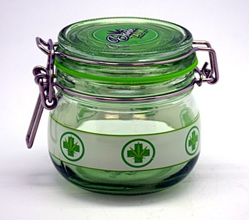 Green Cross Stash Jar
