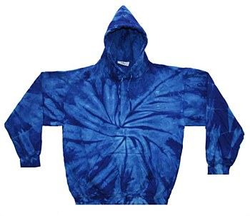 Tie Dye Medium Pullover Royal Blue Hoodie