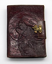 Wolf Moon Leather Embossed Writing Journal