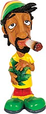 Jamaican Smoking Bobble Head