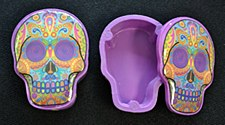 Colorful Day of the Dead Sugar Skull Box