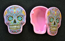Purple Day of the Dead Sugar Skull Box