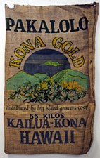 "22"" x 36"" Pakalolo Kona Gold Hawaii Burlap Bag"