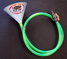 Beer Bong Single Hose with Clamp