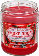 13oz Smoke Exterminator Candle Fresh Strawberries